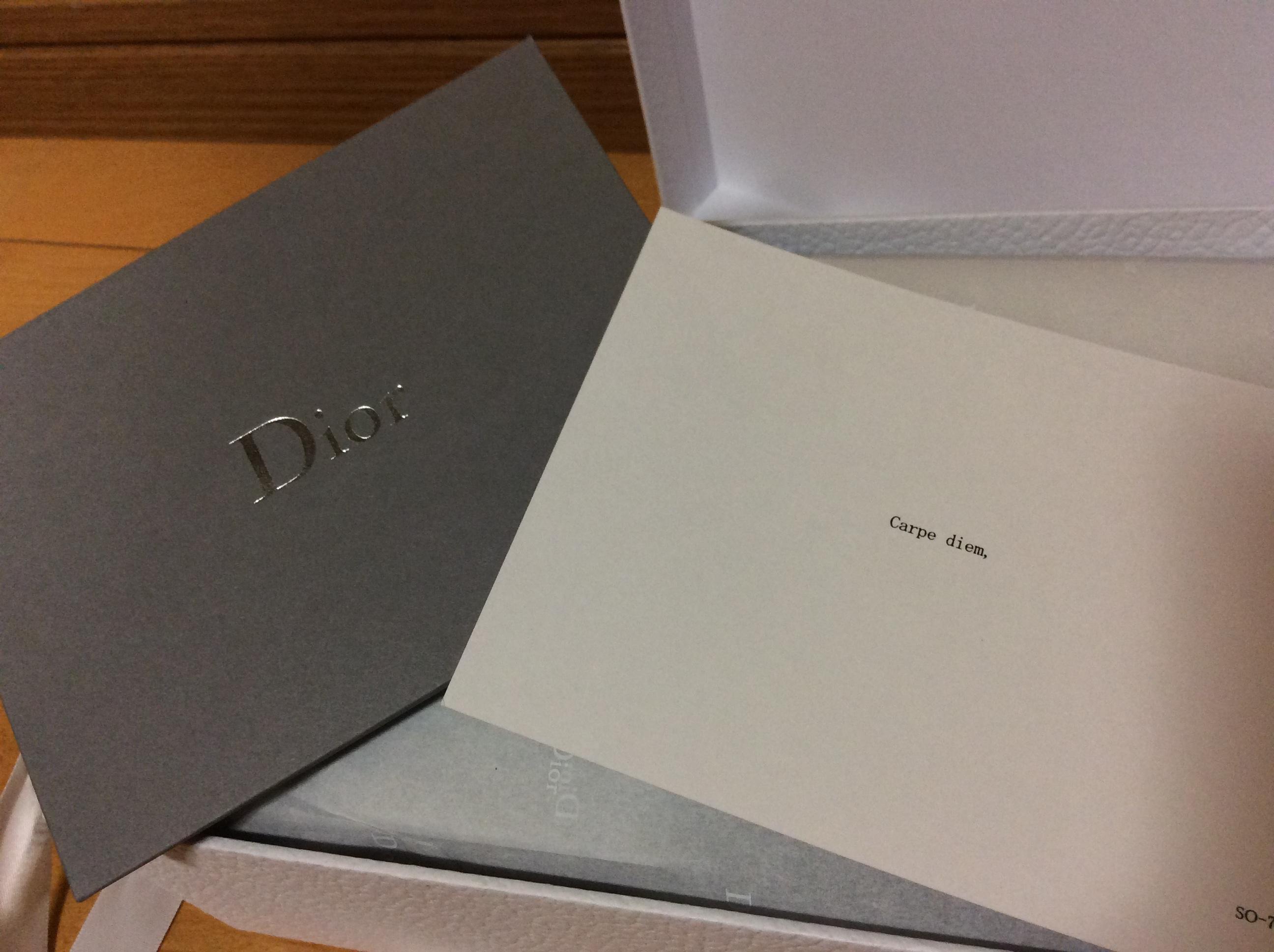 Dior メッセージカード
