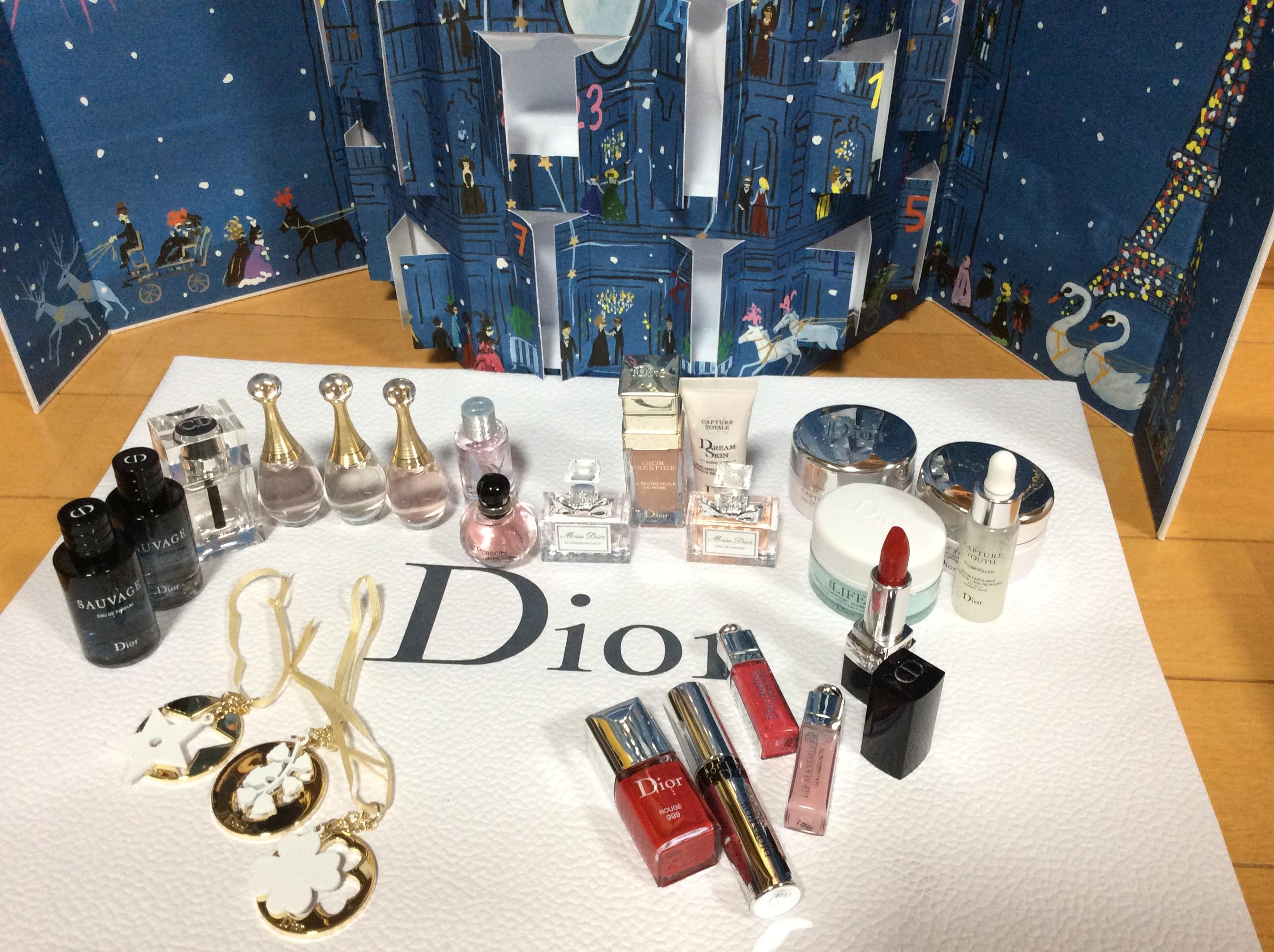 Dior ディオール アドベントカレンダー 2018 中身