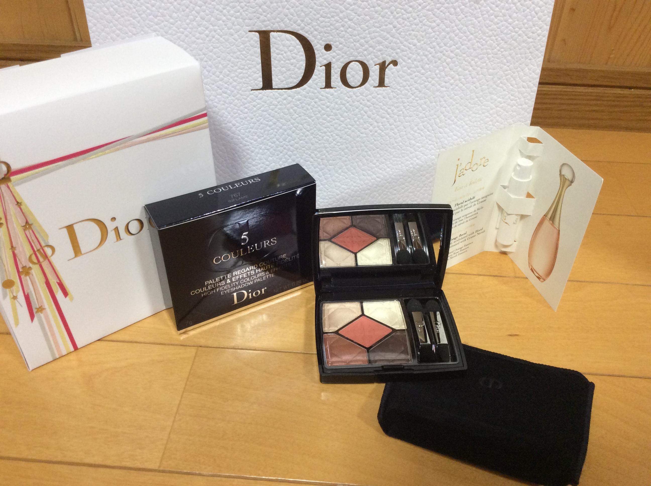 Dior サンク クルール クリスマス ラッピング ディオール ジャドール オールミエール 2018