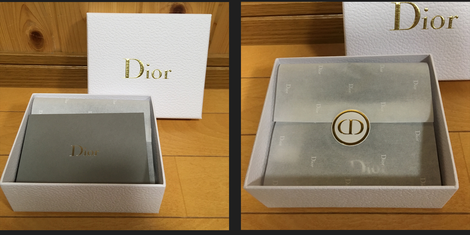 Dior ディオール オンラインブティック ギフトボックス ラッピング 梱包