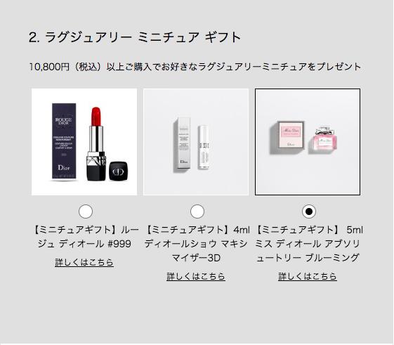 Dior オンラインブティック ラグジュアリーミニチュア ギフト